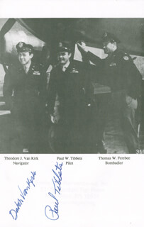 ENOLA GAY CREW (PAUL W. TIBBETS) - BOOK SIGNED CO-SIGNED BY: ENOLA GAY CREW (THEODORE VAN KIRK)