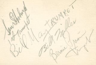 HARRY JAMES ORCHESTRA - AUTOGRAPH CO-SIGNED BY: BILL MAY, BILLY MILLER, SAM SKOLNICK, BERNIE PRIVIN