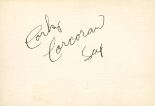 CORKY CORCORAN - AUTOGRAPH CO-SIGNED BY: CLAUDE BOWEN