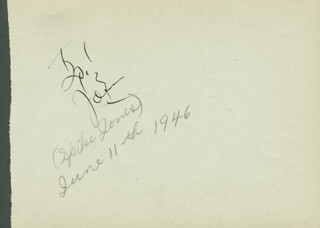 Spike Jones Autographs 280729