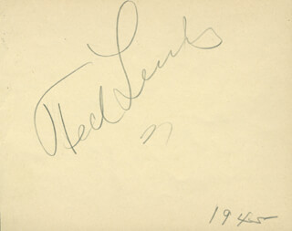 TED LEWIS - AUTOGRAPH CO-SIGNED BY: FRANKIE CARLE
