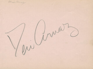 Autographs: DESI ARNAZ SR. - SIGNATURE(S) CO-SIGNED BY: BERT WHEELER