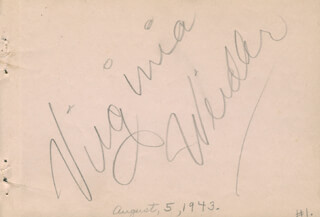 VIRGINIA WEIDLER - AUTOGRAPH