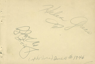 HELEN GRECO - AUTOGRAPH CIRCA 1946 CO-SIGNED BY: DORESE MIDGLEY