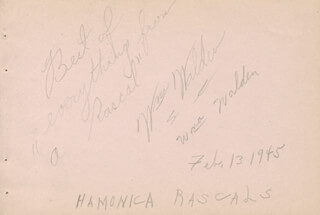 WILLIAM WALDEN - AUTOGRAPH SENTIMENT SIGNED CIRCA 1945