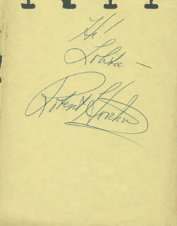 Autographs: ROBERT HORTON - AUTOGRAPH NOTE SIGNED