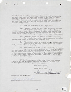DEAN MARTIN - CONTRACT SIGNED 06/15/1959