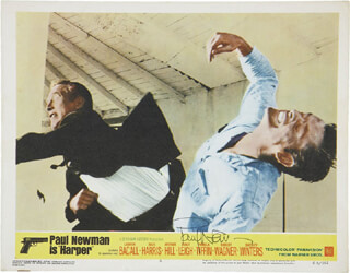 PAUL NEWMAN - LOBBY CARD SIGNED