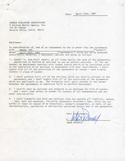 MARK RUSSELL - DOCUMENT DOUBLE SIGNED 04/23/1987