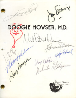DOOGIE HOWSER, M.D. TV CAST - SCRIPT SIGNED CO-SIGNED BY: NEIL PATRICK HARRIS, JAMES B. SIKKING, MAX CASELLA, LAWRENCE PRESSMAN, KATHRYN LAYNG, BELINDA MONTGOMERY, LUCY BORYER, MITCHELL ANDERSON, MARKUS REDMOND, LISA DEAN RYAN