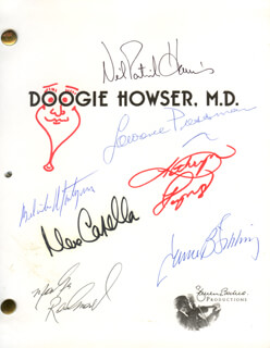 DOOGIE HOWSER, M.D. TV CAST - SCRIPT SIGNED CO-SIGNED BY: NEIL PATRICK HARRIS, JAMES B. SIKKING, MAX CASELLA, LAWRENCE PRESSMAN, KATHRYN LAYNG, MITCHELL ANDERSON, MARKUS REDMOND