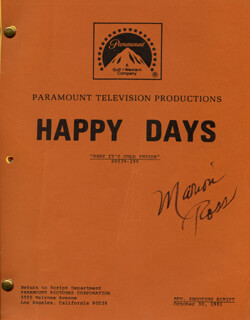 MARION ROSS - SCRIPT SIGNED