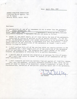 TIM CONWAY - CONTRACT DOUBLE SIGNED 04/29/1987