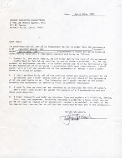 Autographs: ARMY ARCHERD - DOCUMENT SIGNED 04/28/1987 CO-SIGNED BY: GEORGE SCHLATTER