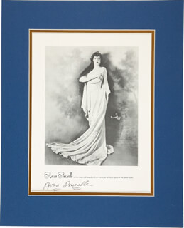 ROSA PONSELLE - BOOK PHOTOGRAPH SIGNED