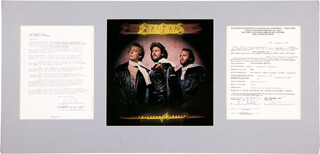 THE BEE GEES - CONTRACT SIGNED 08/27/1975 CO-SIGNED BY: THE BEE GEES (BARRY GIBB), THE BEE GEES (ROBIN GIBB), THE BEE GEES (MAURICE GIBB)