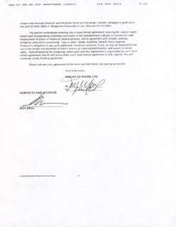 SEAN PENN - CONTRACT SIGNED 08/27/1999