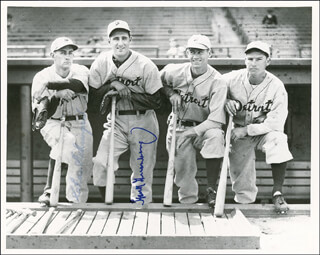 THE DETROIT TIGERS - AUTOGRAPHED SIGNED PHOTOGRAPH CO-SIGNED BY: CHARLIE GEHRINGER, HANK GREENBERG