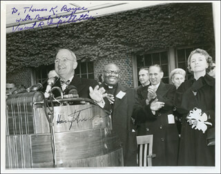 Autographs: PRESIDENT HARRY S TRUMAN - INSCRIBED PHOTOGRAPH SIGNED CO-SIGNED BY: VINCENT R. IMPELLITTERI, W. AVERELL HARRIMAN