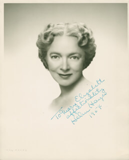 HELEN HAYES - AUTOGRAPHED INSCRIBED PHOTOGRAPH 1954