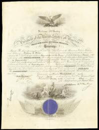 PRESIDENT WILLIAM McKINLEY - NAVAL APPOINTMENT SIGNED 06/10/1899 CO-SIGNED BY: JOHN D. LONG