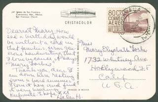 HELEN HAYES - AUTOGRAPH LETTER SIGNED CIRCA 1963