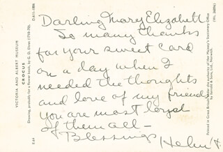 HELEN HAYES - AUTOGRAPH LETTER SIGNED