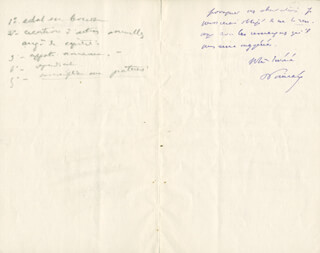 PRIME MINISTER RAYMOND POINCARE (FRANCE) - AUTOGRAPH LETTER SIGNED 06/17/1909