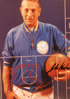 JOHN WOODEN - AUTOGRAPHED SIGNED PHOTOGRAPH