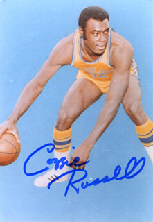 CAZZIE RUSSELL - AUTOGRAPHED SIGNED PHOTOGRAPH