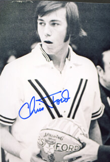 CHRIS FORD - AUTOGRAPHED SIGNED PHOTOGRAPH