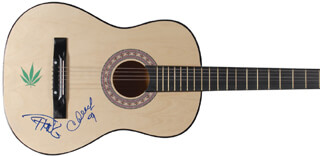 CHEECH & CHONG - GUITAR SIGNED CO-SIGNED BY: CHEECH & CHONG (CHEECH MARIN), CHEECH & CHONG (TOMMY CHONG)