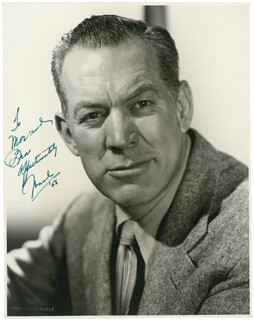 WARD BOND - AUTOGRAPHED INSCRIBED PHOTOGRAPH 1955