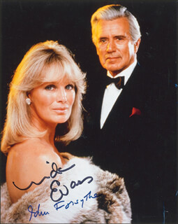 DYNASTY TV CAST - AUTOGRAPHED SIGNED PHOTOGRAPH CO-SIGNED BY: JOHN FORSYTHE, LINDA EVANS