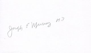 Autographs: JOSEPH E. MURRAY - SIGNATURE(S)