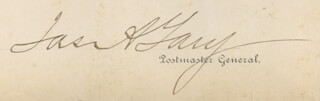 Autographs: JAMES A. GARY - CIVIL APPOINTMENT SIGNED 11/15/1897