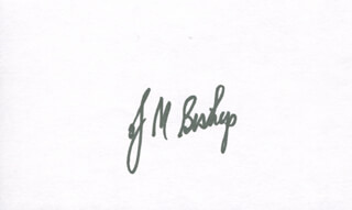 Autographs: J. MICHAEL BISHOP - SIGNATURE(S)
