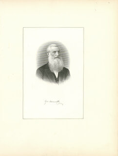 GEORGE BANCROFT - ENGRAVING SIGNED
