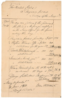 Autographs: BENJAMIN STODDERT - MANUSCRIPT DOCUMENT SIGNED 12/31/1800