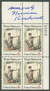 NORMAN ROCKWELL - STAMP(S) SIGNED