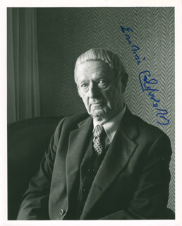 ERSKINE CALDWELL - AUTOGRAPHED SIGNED PHOTOGRAPH