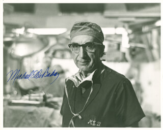 DR. MICHAEL E. DEBAKEY - AUTOGRAPHED SIGNED PHOTOGRAPH