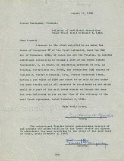 Autographs: ERNEST PAPA HEMINGWAY - DOCUMENT SIGNED 08/11/1938