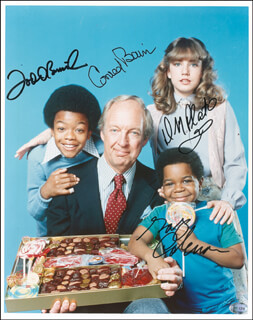 DIFF'RENT STROKES TV CAST - PHOTOCOPY SIGNED IN INK CO-SIGNED BY: CONRAD BAIN, GARY COLEMAN, TODD BRIDGES, DANA PLATO