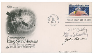 WILLIAM SHOCKLEY - FIRST DAY COVER SIGNED CO-SIGNED BY: WALTER BRATTAIN, JOHN BARDEEN