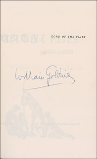 SIR WILLIAM GOLDING - BOOK SIGNED