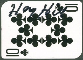 Autographs: HENRY HILL - PLAYING CARD SIGNED