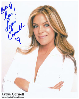 LYDIA CORNELL - AUTOGRAPHED SIGNED PHOTOGRAPH