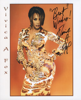 VIVICA A. FOX - PRINTED PHOTOGRAPH SIGNED IN INK