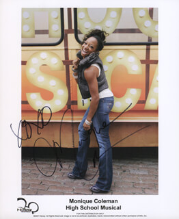 MONIQUE COLEMAN - AUTOGRAPHED SIGNED PHOTOGRAPH
